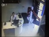 Scary: Woman Barely Escapes Being Crushed By Out Of Control Car That Went Inside Of Real Estate Office 2-angle CCTV