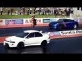 SVM Hulk Nissan GTR 1600 HP Vs Subaru STI, Mini Cooper Drag Race