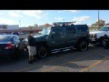 Some Loser In His Hummer Gets His Rims Repo'd - BAAAHAHAHA!