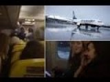 Shocking Footage Ryanair Stewardess Stunned Passengers We Have Ice On The Wing & Don't Want To Die
