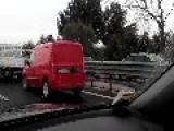 Scary Truck Accident In Barletta, Italy