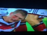 Schweinsteiger Bleeding And Blood, But Insisted That Complements The Game