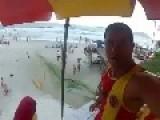 Saving Drowning Victim At The Beach!