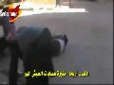 Syria - FSA Rebel Gets SAA Sniper Headshot