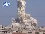 Syria - Huge SAAF Barrel Bomb Airstrike On Jihadist Stronghold 04 10 -2 VIDEOS-
