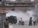 Saraqeb Checkpoint Bombing - Added Footage HD