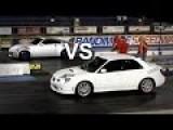 Subaru WRX STI Vs Nissan 350Z Drag Race