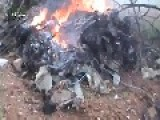 Syrian Citizens Display The Burning Wreckage Of MiG21 Aircraft: Northern Hama, Feb 14th, '13