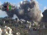 Shelling On Salma With Explosive Barrels