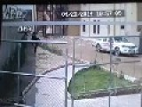 Suicide Bomber Chasing Iraqi University Guards Captured On CCTV