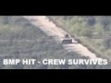 Syrian Army BMP Hit By TOW ATGM - Crew Survives Leaves Vehicle And Retreats
