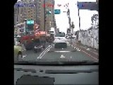 Scooter Rider Face Plants On The Back Of A Truck