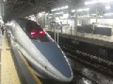 Shinkansen Trains During Typhoon Storm