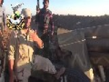Syrian Sunni Arab Citizen Soldiers Relax After Capturing Tell Al-Harra, Whilst An Assadist Terror Raider Bombs Al-Harra Town Oct 5th, '14
