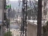 Syrian Sunni Arab Citizen Soldiers Lob Hell Cannon Rounds Onto A Regime Crossing Point: Aleppo Nov 11th, '14