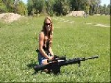 Sexy Erika Shooting Serbu BFG-50A .50 BMG - Full 1080p HD