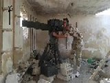 Syria - Harakat Hazm Terrorist Group Hit A Syrian Army's Tank With TAO Missile