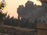 Syria - Suicide BMP Attack In Meng Airport 05 08