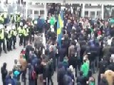 Soccer Supporters Vs. Swedish Riot Police