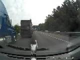 Semi Truck Slams Into Other Truck