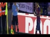 Spain - Dani Alves Eats Banana Thrown From Public
