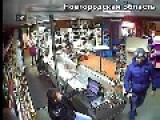 Shopworker Fights Of Armed Robber With His Chair