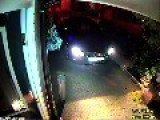 Shocking Moment Thugs With Homemade Battering Ram Smash Front Door