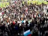 Soviet Anthem, International Played In Donetsk Ukraine