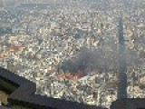 Smoke From Paris Explosion Seen From Top Of Montparnasse Tower