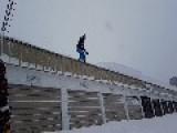 Snowboard Roof Jump Fail