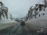 Stupid Woman Overtaking In Snow