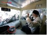 Saint Sayyed… Iranian Regime Installs Special Lighting In Khamenei's Car To Make Him Look Saintly