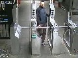 Surveillance Video Of Bronx Subway Assault Suspect -NYPD Is Looking For A Male 'whit 2af6 E' Huh?