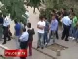 Street Fight In Turkey: Punching! Kicking! Stomping! Kissing??