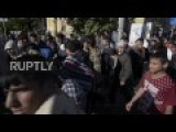 Serbia: Migrants Begin March From Belgrade To Hungarian Border