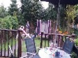 Slide Connected To Trampoline Guillotine Fail