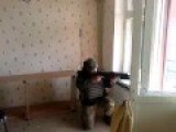 Soldier Of Battalion Donbass Uses Secret Weapon During Firefight In Village Shirokino