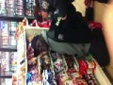 Shoplifter Crying While Getting Cuffed!