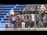 Supporter Falls From Stands In Serbia