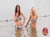 Sexy Bikini Girls Photoshoot Fart Prank