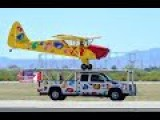 Stunt Pilot Has The Mastery - Lands On A Moving Truck