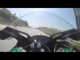 Speeding Motorcyclist Crashes Hard