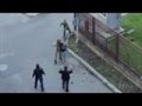 Soldier Disarms Actor Shooting Hostage Scene
