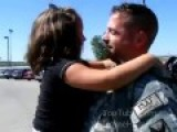 Soldier Surprises His Little Girl At The Airport