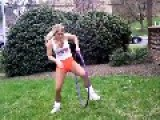 Sexy Hooters Girl Hula Hooping