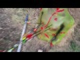 Shooting Zombie Target With Arrows. Part 3