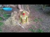 Shooting Zombie Target With Arrows. Part 1