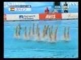 Spanish Synchronized Swim Team Performs To 'Stairway To Heaven'