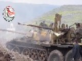 Syria - NDF Armor Units Action In Al-Zarah 09 03