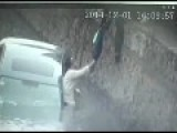 Scary Rescue After Woman Deviate Suddenly Car Into River In China From Viralfleek Com